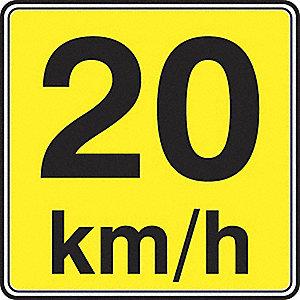 SIGN RFL 24INX24IN 20 KM/H