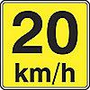 SIGN HI RFL 24INX24IN 20 KM/H