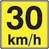 SIGN HI RFL 24INX24IN 30 KM/H