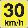 SIGN RFL 24INX24IN 30 KM/H