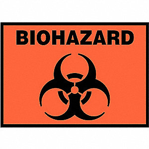 LABEL BIOHAZARD SYMBOL 5/PK