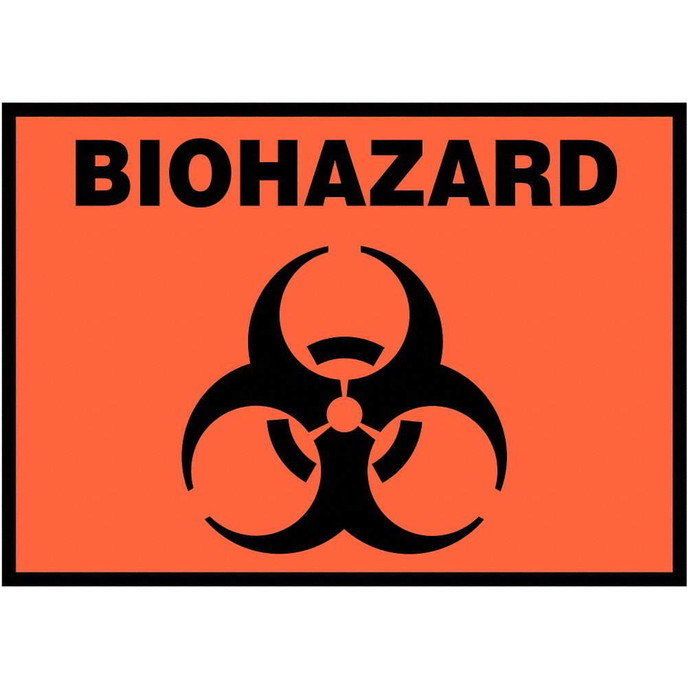 Accuform Signs Label Biohazard Symbol 5pk Pipe Markers