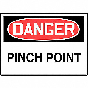 LABEL DGR PINCH POINT 5/PK