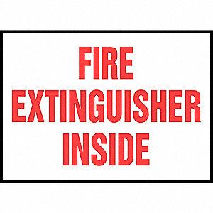 LABEL FIRE EXT INSIDE 5/PK