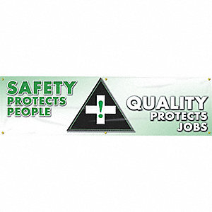 BANNER 8-FT SFTY QLTY PROTECTS