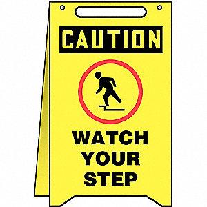 FOLD UPS FLOOR SIGN CTN WTCH YR STP