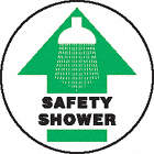 SIGN FLOOR SAFETY SHOWER 17IN