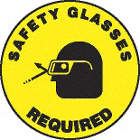 SIGN FLOOR SAFETY GLASSES REQ 17IN