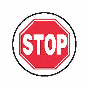 SIGN FLOOR STOP 17IN