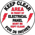 SIGN FLOOR KEEP CLEAR 17IN DIA