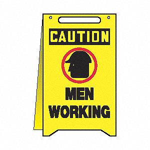 FOLD UPS FLOOR SIGN CTN MEN WORKING