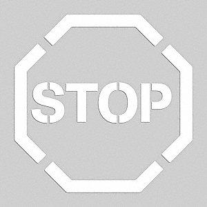 FLOOR STENCIL STOP