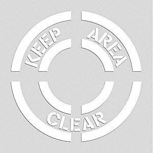 FLOOR STENCIL KEEP AREA CLEAR