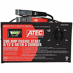CHARGER BATTERY PORTABLE 6/12V 250A