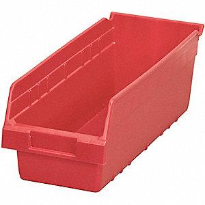 BIN SHELF RED 18 X 6 5/8 X 6