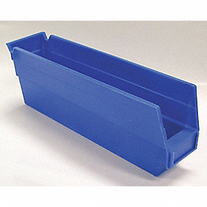 BIN SHELF 11.625 X 2.75 X 4 BLUE