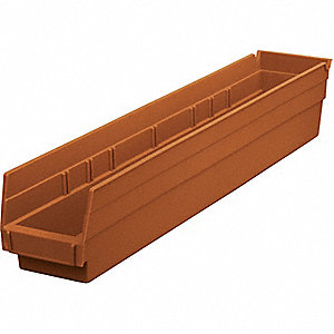 BIN SHELF TERRA COTTA 24X4X4