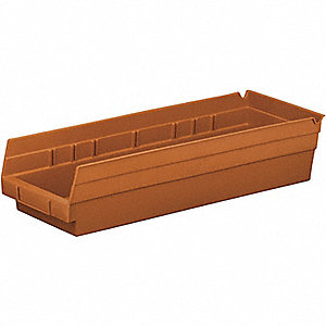 BIN SHELF TERRA COTTA 18X6X4