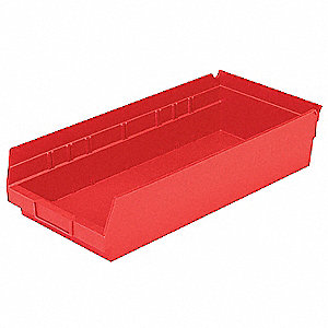 BIN SHELF 17.875 X 8.375 X 4 RED