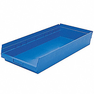 BIN SHELF 23.625 X 11.125 X 4 BLUE