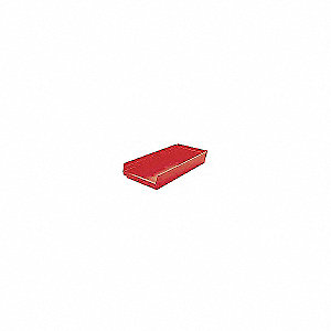 BIN SHELF 23.625 X 11.125 X 4 RED