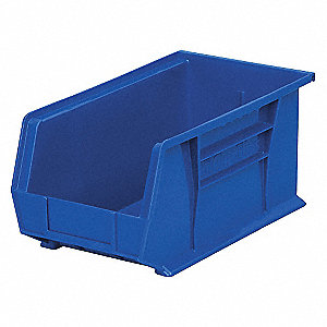 BIN HANGING 14-3/4X8-1/4X7 BLUE