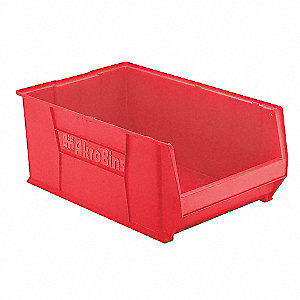 BIN SUPER-SIZE 29-1/4X18-3/8X12 RED