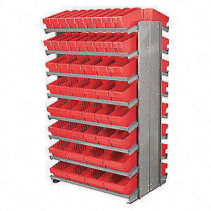PICK RACK,DBL-SIDE,RED DRAWER