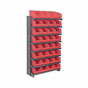PICK RACK,SNGL-SIDED,RED SHELFMAX