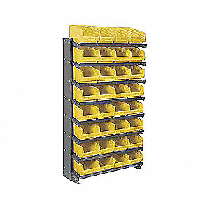 PICK RACK,SNGL-SIDED,YEL SHELFMAX