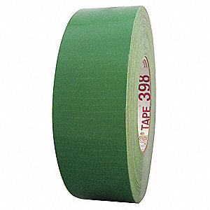 Industrial Duct Tape, 72mm X 55m, 11.00 mil Thick, Green Coated Cloth, 1 EA