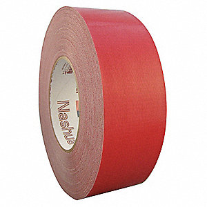 Industrial Duct Tape, 72mm X 55m, 11.00 mil Thick, Red Coated Cloth, 1 EA