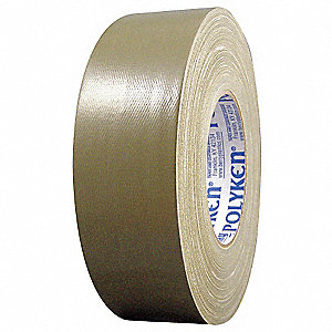 Industrial Duct Tape, 72mm X 55m, 12.00 mil Thick, Green Coated Cloth, 1 EA