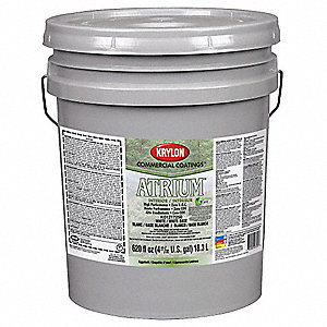 Interior Paint,Eggshell,White,5 gal.