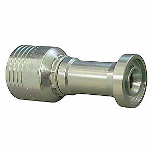 "Flange Fitting,Crimp,3/4"" Hose,1""Flange"
