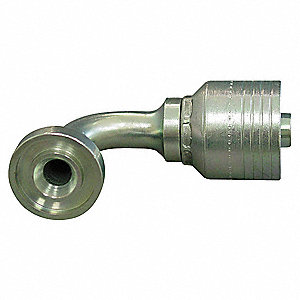 "Fl Fitting,Crimp,1-1/4"" Hose,1-1/2"" Fl"