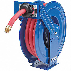 "3/4"", 50 ft. Spring Return Hose Reel, 300 psi Max. Pressure"
