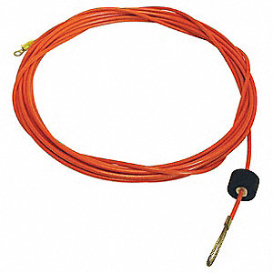 50 ft. Galvanized Steel Static Discharge Cable Kit, Orange