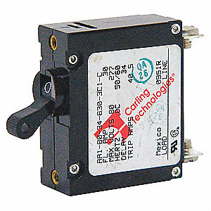 Circuit Breaker, Magnetic Circuit Breaker Type, Toggle Switch Type, Number of Poles: 1