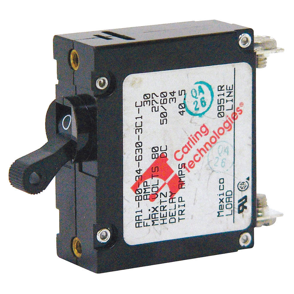 CARLING TECHNOLOGIES Circuit Breaker, Magnetic Circuit Breaker Type ...