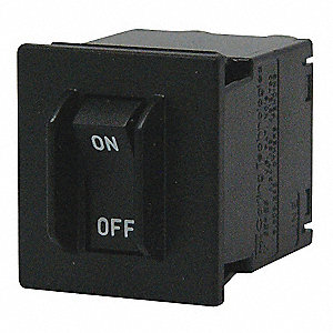 Circuit Breaker, Magnetic Circuit Breaker Type, Rocker Switch Type, Number of Poles: 1