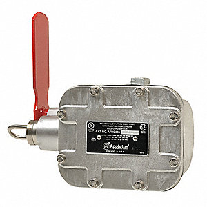 Emergency Cable Pull Switch, 15A Thermal Amperage, Contact Form: 1NC-DB/1NO