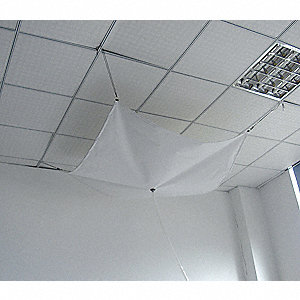 Roof Leak Diverter,20 x 20 ft,Lmntd Poly