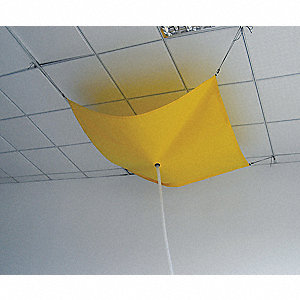 Roof Leak Diverter, 2-1/2 ft., Yellow