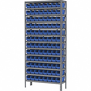 STEEL SHELVING W/60 30138BLUE 9PC