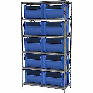 STEEL SHELVING WITH 12EA 13017BLUE