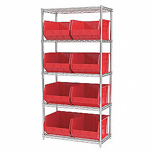 WIRE SHELVING,30270,RED,AKROBINS