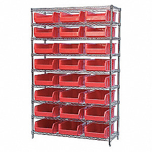 WIRE SHELVING,30280,RED AKROBINS