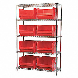WIRE SHELVING,30283,RED AKROBINS