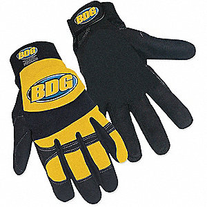 GLOVE,MECHANICS,YELLOW,SZ. XL,PR